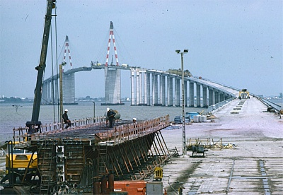Pornic - 25/09/2015 - Plus de 2000 photos du pont de Saint-Nazaire en construction