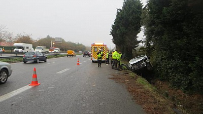 Pornic - 30/10/2015 - Accidents en Pays de Retz. Trois collisions en 30 mn