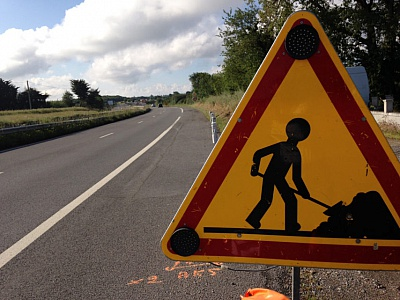 Pornic - 20/09/2017 - Attention, travaux sur la Route bleue !